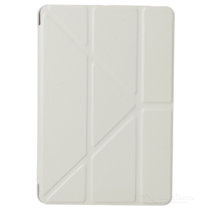 PU Leather Case Stand w/ Auto Sleep Cover for Ipad MINI / Retina Ipad MINI - White