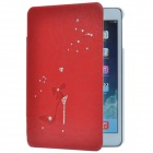 High-heel Style Diamante Protective PU Leather Case Cover Stand for Retina Ipad MINI - Red