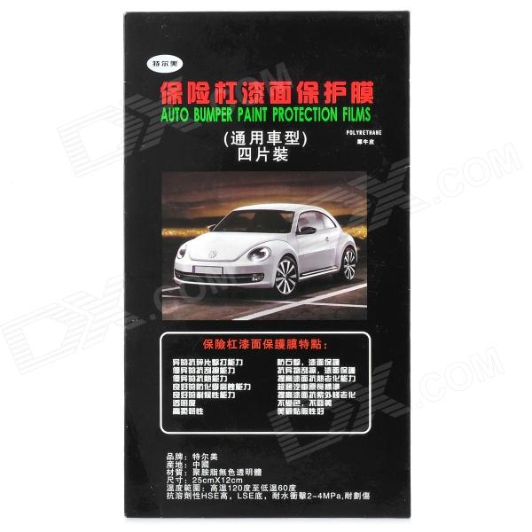 A106 protector PP Car Bumper Flims - Transparente (4 PCS)