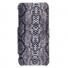SAYOO Serpentine Leather Around Opening Series Protective Flip Open Case for Iphone 5 / 5s - Black