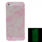 Fashion Glow in the Dark Protective Frosted Plastic Back Case For Iphone 5 / 5s - Deep Pink