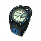 AD1304 Stylish Sports 50m Water Resistant Quartz Digital Wrist Watch - Black + Blue