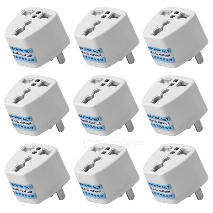 High Quality Multifunctional Universal US Travel AC Power Adapter Plug - White (250V, 10A / 9 PCS) оперативная память kingston 16gb 2400mhz ddr4 dimm kvr24se17d8 16