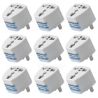 High Quality Multifunctional Universal US Travel AC Power Adapter Plug - White (250V, 10A / 9 PCS)