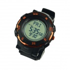 Multifunctional Waterproof Outdoor Sport Quartz Digital Wrist Watch w/ Compass - Black (1 x CR2016)