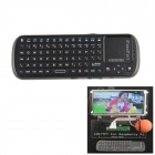 iPazzport 2.4G Wireless 81-key Keyboard Touchpad for Raspberry PI / Pcduino / PC /Android TV - Black