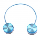 WS-3100 Bluetooth V2.1+EDR Stereo Headphone w/ Microphone - Blue + White