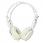 YongLe IP-806 Extra Bass Headband Stereo Wired Headphone w/ Microphone - White