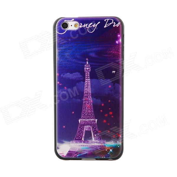 Eiffel Tower -Style Relief Protective PC Back Case for Iphone 5C - Multicolored eiffel tower pattern protective pc back case for iphone 5c white multicolor