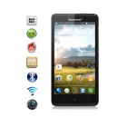 "Lenovo P780 MTK6589 Quad-Core WCDMA Bar Phone w/ 5.0"" Gorilla Glass Screen, Wi-Fi, GPS, OTG - Black"
