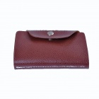 Stylish PU Leather Super Capacity Card Bag Holder Case - Coffee