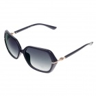HB-057 Stylish Plastic Frame Resin Lens UV 400 Protection Women's Sunglasses - Black