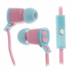Sibyl V-2 Mega Bass In-Ear Earphones w/ Microphone - Pink + Blue (3.5mm Plug / 112cm-Cable)