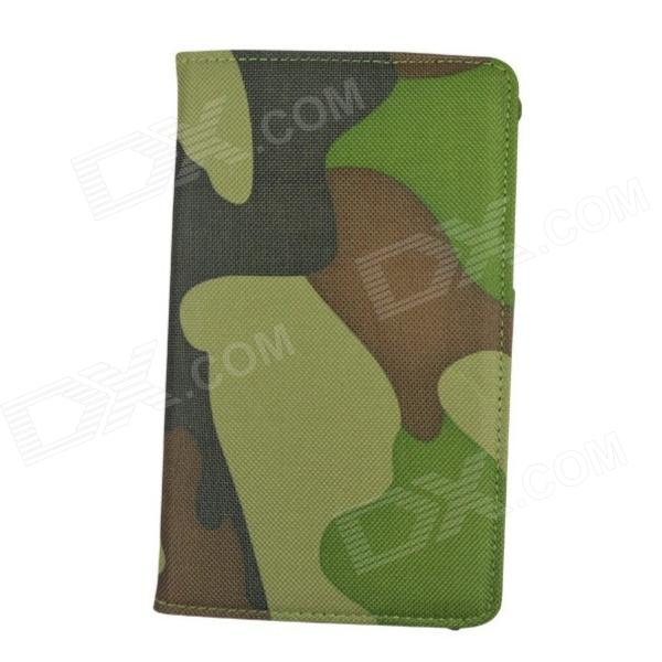 Rotation PU Leather Case for Samsung T210 Galaxy Tab 3 7.0 P3200 - Camouflage Green tribal lines 360 rotating leather case for samsung t210 galaxy tab 7 0 3 p3200 green white