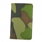 Rotation PU Leather Case for Samsung T210 Galaxy Tab 3 7.0 P3200 - Camouflage Green
