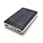 "Universal Dual-USB ""13800mAh"" Solar Energy Powered Power Source Bank - Black +White"
