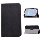 Rotating Litchi Grain PU Leather Case for Samsung T210 Galaxy Tab 3 7.0 P3200 - Black