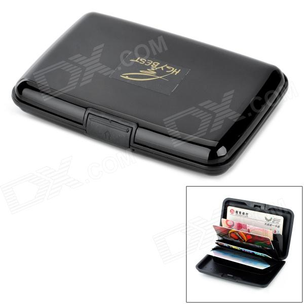 HGYBEST Multifunction Water Resistant 7-Slot Business Credit Card Holder Case - Black