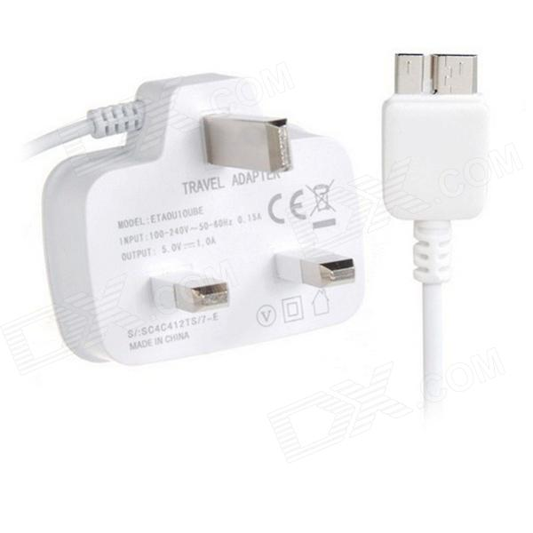 Travel AC Power Charger Adapter for Samsung Galaxy Note 3 N9000 - White (UK Plug / 100~240V)