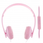 Sibyl y502 Stylish Stereo Headband Headphones w / Microphone - Pink (3.5mm Plug / 110cm-Cable)