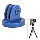 "High Precision CNC Aluminum Alloy 1/4"" Tripod Adapter Mount for GoPro Hero3+/Hero3/Hero2 - Blue"