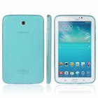 ENKAY TPU Back Case with Anti-dust Plugs for Samsung Tab 3 7.0 T210 / T211 / P3200 - Light Blue