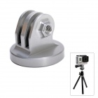 "High Precision CNC Aluminum Alloy 1/4"" Tripod Adapter Mount for GoPro Hero3+/Hero3/Hero2 - Grey"