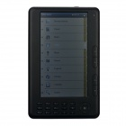 "7.0"" TFT Screen E-Book Reader Music / Video Media Player w/ Microphone / TF - Black (8GB)"