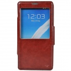 Dikuka Protective PU Leather + TPU Case Stand w/ Visual Window for Samsung Galaxy Note 3 - Brown