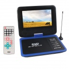 "Portable 7.8"" LCD Mobile DVD Player w/ TV, FM, Card Reader, Game and USB - Blue"