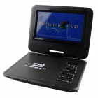 "Portable 7.8"" LCD Mobile DVD Player w/ TV, FM, Card Reader, Game and USB - Black"