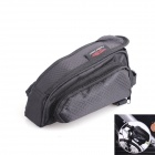 Bicycle Front Tube Bag w/ Water Resistant Cover - Black