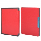 Protective PU Leather Flip Case Cover / With Sleep / for Kobo Non HD - Red