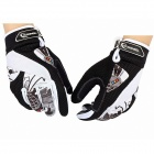 ROSWHEEL Motorcycle Riding Gloves - Black + White (Size L)