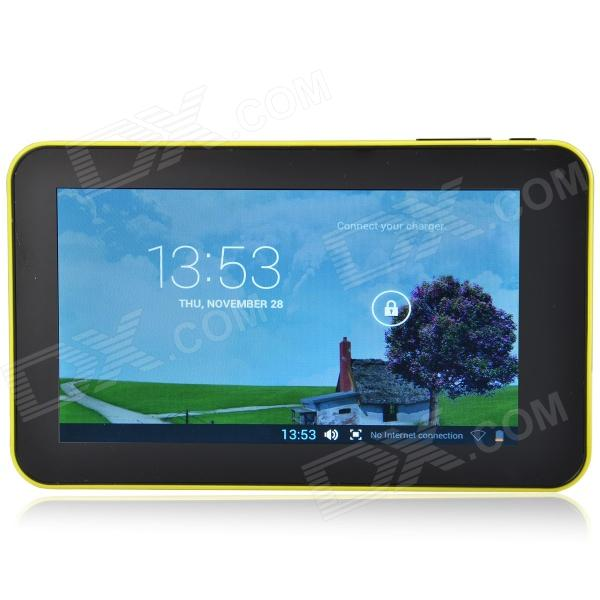 A70M  7.0 Android 4.2 Dual Core Tablet PC w/ 512MB RAM 8GB ROM / Wi-Fi / Dual Camera - Yellow a70m 7 0 android 4 2 dual core tablet pc w 512mb ram 8gb rom wi fi dual camera blue