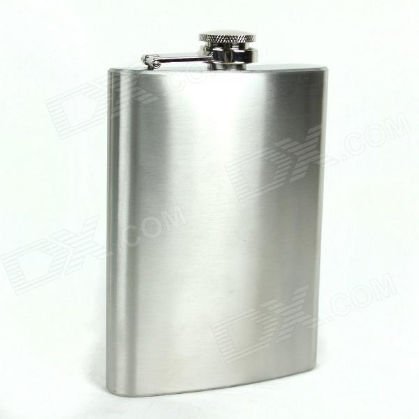 Portable Stainless Steel Liquor Flask - Silver (10oz)