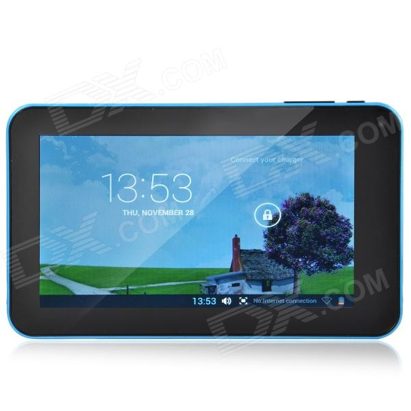 A70M  7.0 Android 4.2 Dual Core Tablet PC w/ 512MB RAM 8GB ROM / Wi-Fi / Dual Camera - Blue a70m 7 0 android 4 2 dual core tablet pc w 512mb ram 8gb rom wi fi dual camera blue