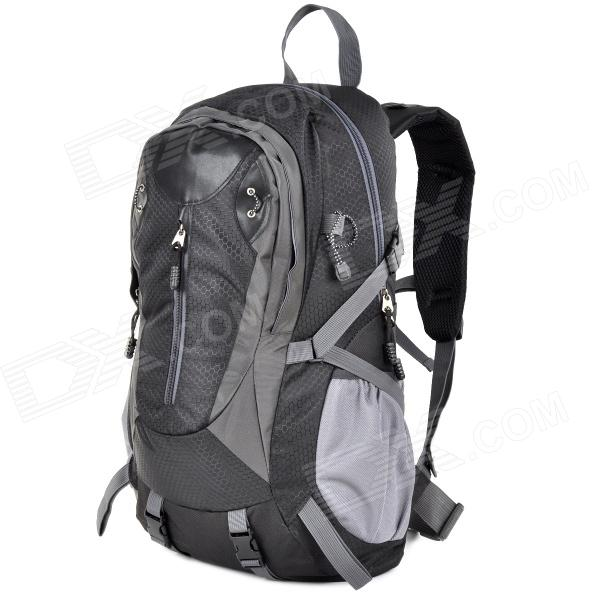 Creeper 3912 Professional Outdoor Mountaineer Travel Nylon Backpack - Black + Grey (40L)