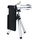 12X Zoom Microscope Lens Case w/ TrIpod for Iphone 5S / Iphone 5C / Iphone 5 - Silver