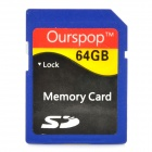 Ourspop DM-25 SD Memory SD Card - Blue (64GB / Class 10)