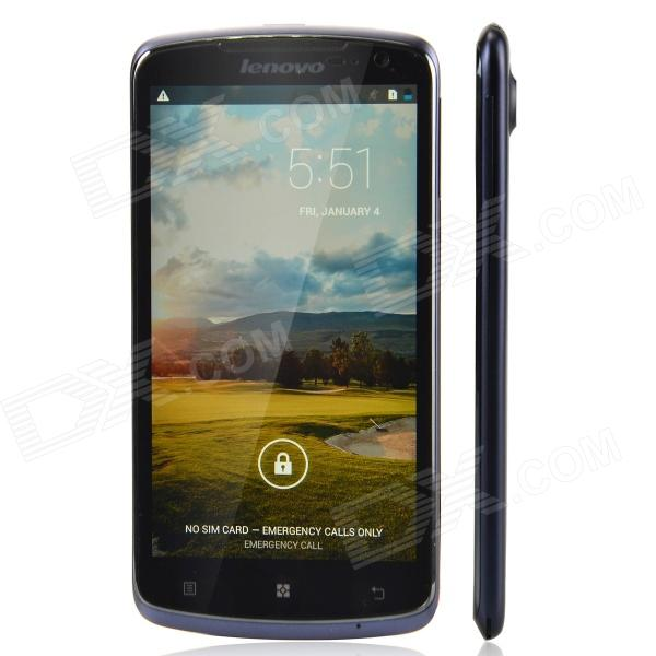 "Lenovo S920 Quad-Core Android 4.2 WCDMA Bar Phone w/ 5.3"" / Wi-Fi / Camera - Deep blue + Black"
