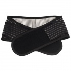 XUNBANG Double Pull Pain Relief Waist Lower Back Support Belt Breathable Brace - Black