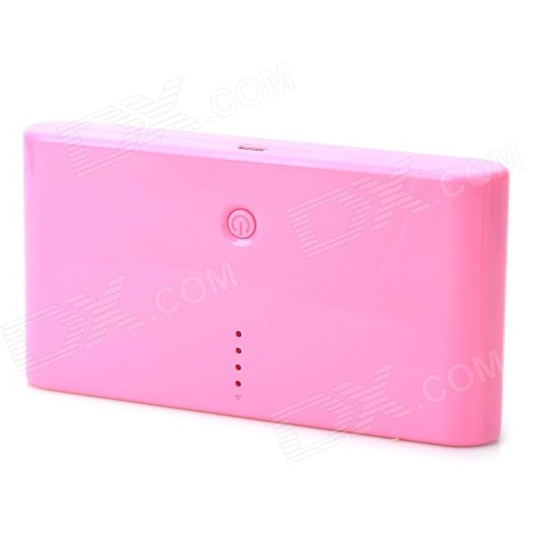 Universal ''20000mAh'' Portable Dual USB Power Bank w/ LED Indicator for Iphone / Samsung - Pink 22000mah power bank w dual usb led flashlight for tablet pc pink