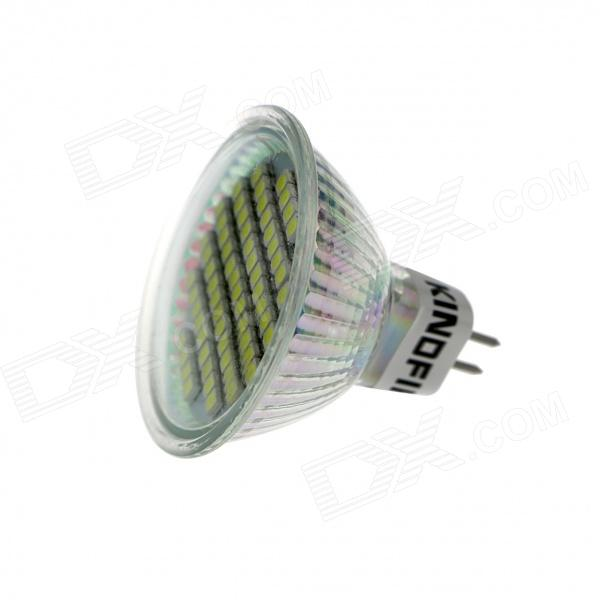 KingFire MR16 GX5.3 4W 260lm 60-SMD 3528 LED White Light Spotlight - Silver (12V) gx h6b r sensor mr li