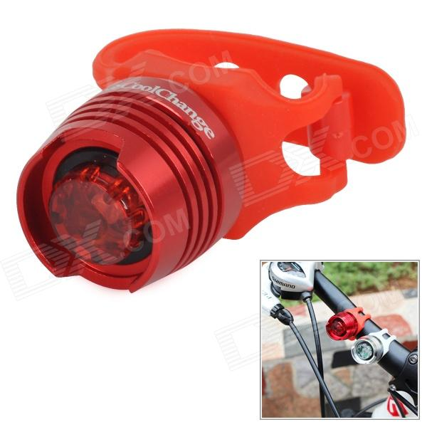 CoolChange Bicycle Aluminum Alloy 3-Mode Red LED Light Tail Lamp