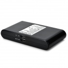 Universal ''20000mAh'' Portable Dual USB Power Bank w/ LED Indicator for Iphone / Samsung - Black