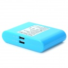 """12000mA"" Dual-USB External Power Bank for IPHONE / Samsung - Blue"