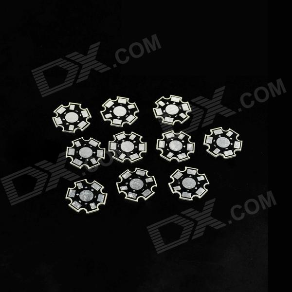 20 x 20mm LED Aluminum Heatsink Board - Silver + Black (10 PCS)