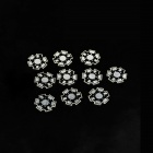 20 x 20 mm LED Aluminum Dissipador Placa- Prata + Preto (10 PCS)