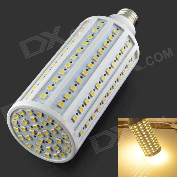 E27 20W 2000lm 3000K 132 x 5050 SMD LED Warm White Bulb - White + Silver (AC 220-240V) 5pcs e27 led bulb 2w 4w 6w vintage cold white warm white edison lamp g45 led filament decorative bulb ac 220v 240v